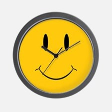Happy Orange Face Wall Clock