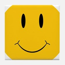 Happy Orange Face Tile Coaster