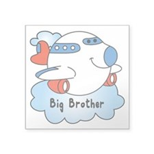 "Big Brother Jet Square Sticker 3"" x 3"""