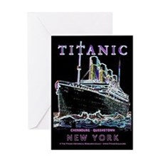 Titanic Neon (black) Greeting Card