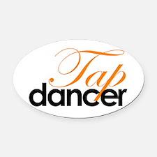 Tap Dancer Oval Car Magnet