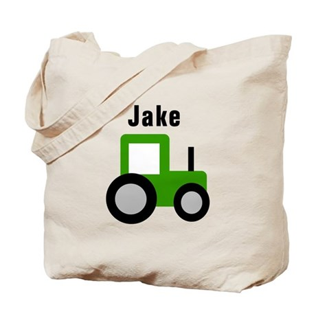 Jake Green Tractor Tote Bag