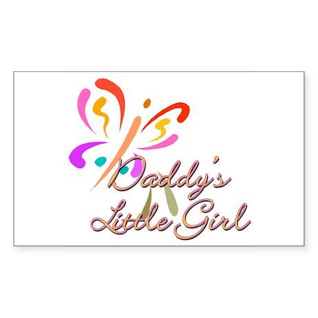Daddy's Little Girl Rectangle Sticker