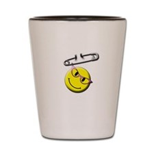 Safety Pin Smiley Face Shot Glass