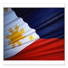 """Filipino Pride Square Car Magnet 3"""" x 3"""""""