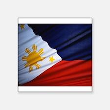 """Filipino Pride Square Sticker 3"""" x 3"""""""