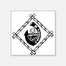 "Guam Chamoru Square Sticker 3"" x 3"""