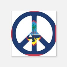 "Guam Peace Square Sticker 3"" x 3"""