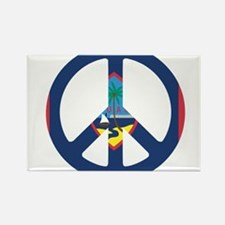 Guam Peace Rectangle Magnet