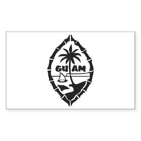 Guam Seal Sticker (Rectangle)