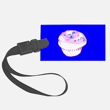 Blue Nom Nom Cupcakes Designer Luggage Tag