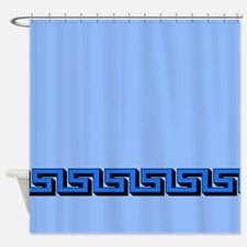 Grreek Key - BlueShower Curtain