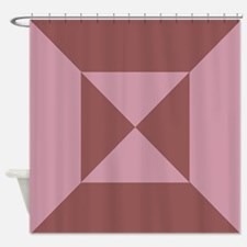 Triangles and Squares mauve Shower Curtain