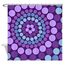 Dots - Purple Shower Curtain