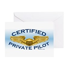 Pilot Wings (gold on blue) Greeting Card