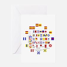 Nautical Flags Greeting Card