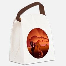 Southwest Kokopelli Canvas Lunch Bag