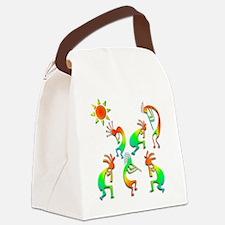 Kokopelli Sun Dance Canvas Lunch Bag