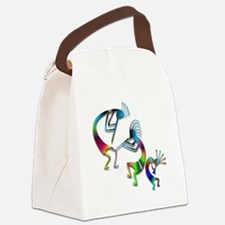 Three Colorful Kokopellis Canvas Lunch Bag