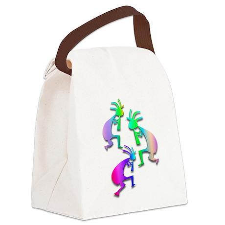 Multiple Pastel Kokopelli Canvas Lunch Bag