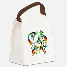 Five Kokopelli Jam Session Canvas Lunch Bag
