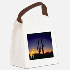 Cactus and Kokopelli Canvas Lunch Bag