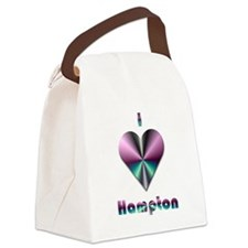 I Love Hampton #2 Canvas Lunch Bag