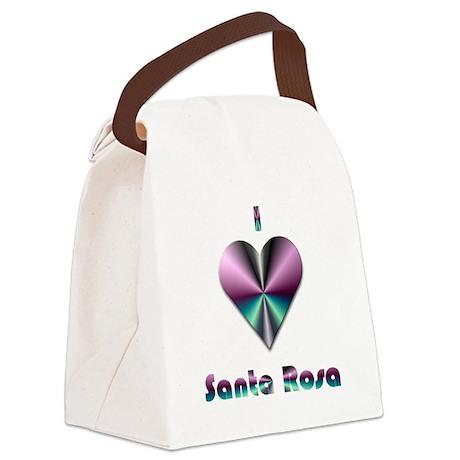 I Love Santa Rosa #2 Canvas Lunch Bag