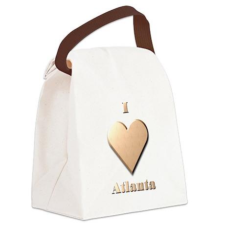 I Love Atlanta #8 Canvas Lunch Bag