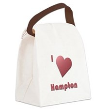 I Love Hampton #12 Canvas Lunch Bag