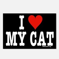 I Heart My Cat (black) Postcards (Package of 8)