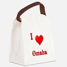 I Love Omaha #21 Canvas Lunch Bag