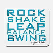 Shake and Rock Highland Babe Mousepad