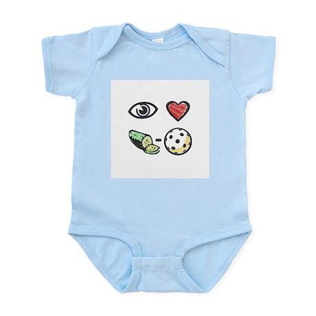 I Love Pickleball Infant Creeper