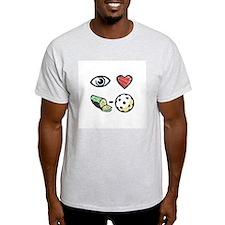 I Love Pickleball Ash Grey T-Shirt