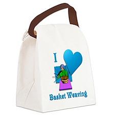 I Love Basket Weaving Canvas Lunch Bag
