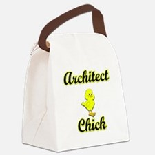 Architect Chick Canvas Lunch Bag