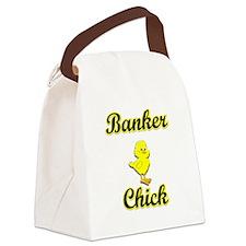 Banker Chick Canvas Lunch Bag