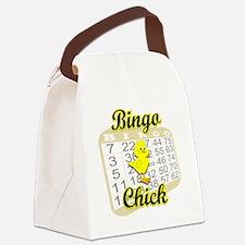Bingo Chick #3 Canvas Lunch Bag