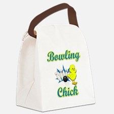 Bowling Chick #2 Canvas Lunch Bag