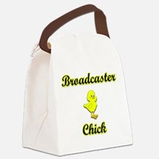 Broadcaster Chick Canvas Lunch Bag