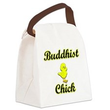Buddhist Chick Canvas Lunch Bag