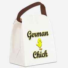 German Chick Canvas Lunch Bag