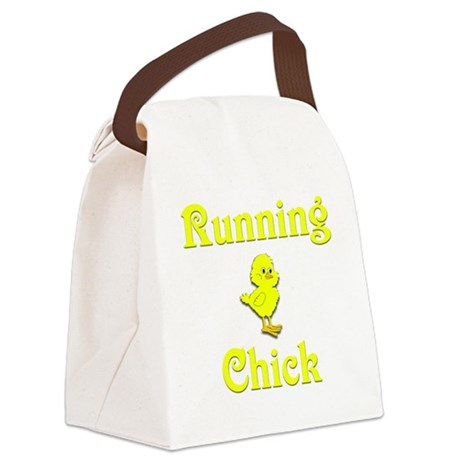 Running Chick Canvas Lunch Bag