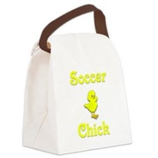 Soccer Chick Canvas Lunch Bag
