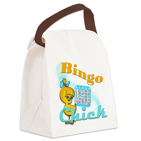 Bingo Chick #2 Canvas Lunch Bag