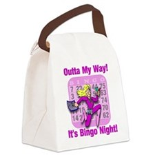Cute Bingo Canvas Lunch Bag