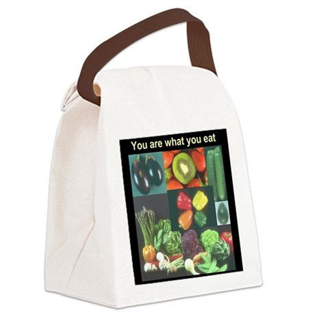 Food Collage Three Canvas Lunch Bag
