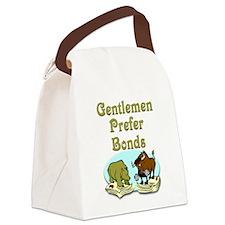 Gentlemen Prefer Bonds Canvas Lunch Bag