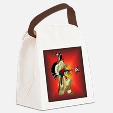 Native American Warrior #6 Canvas Lunch Bag
